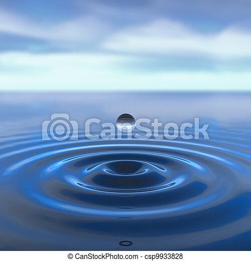 gota agua - csp9933828