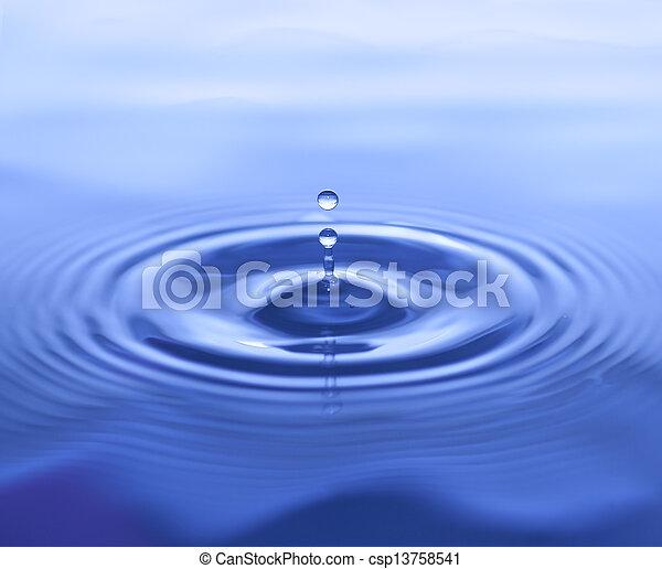 Salpicadura de agua con ondas - csp13758541
