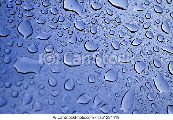 gotas, água - csp1234419