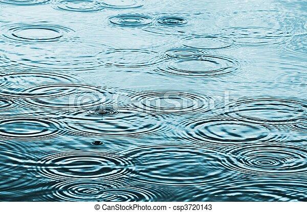 La lluvia cae sobre el agua - csp3720143