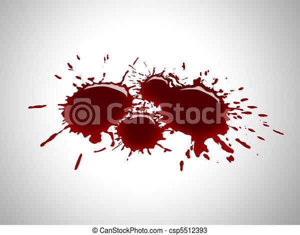 Gotas de sangre - csp5512393