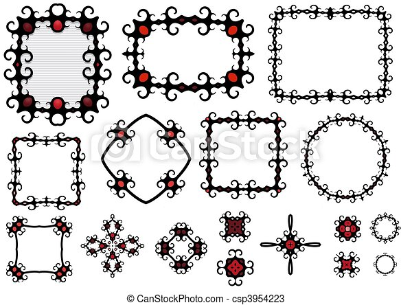 Goth frames. Gothic style frames and components .