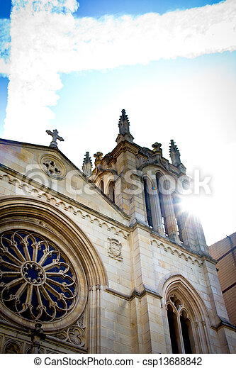 Gothic cathedral - csp13688842