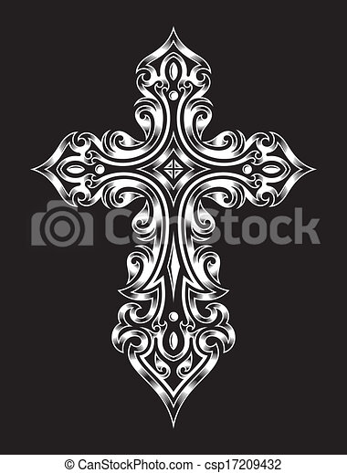 Gothic Cross - csp17209432