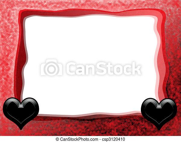 Gothic hearts frame. Alternative gothic tender romantic love frame ...