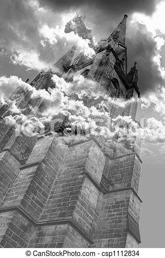 Gothic horror tower - csp1112834