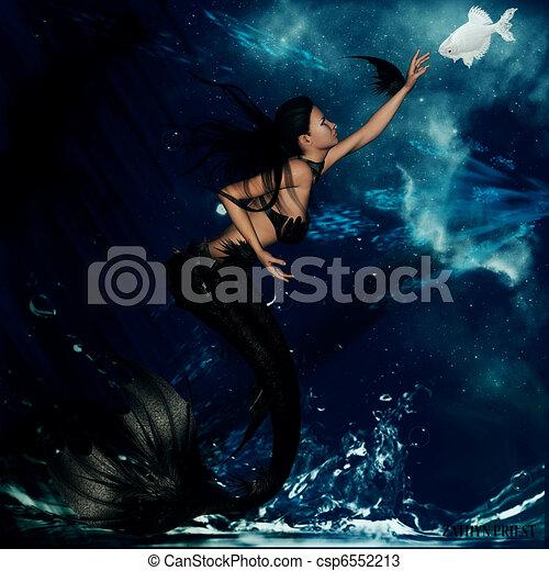 gothic mermaid gothic mermaid with oceanic background