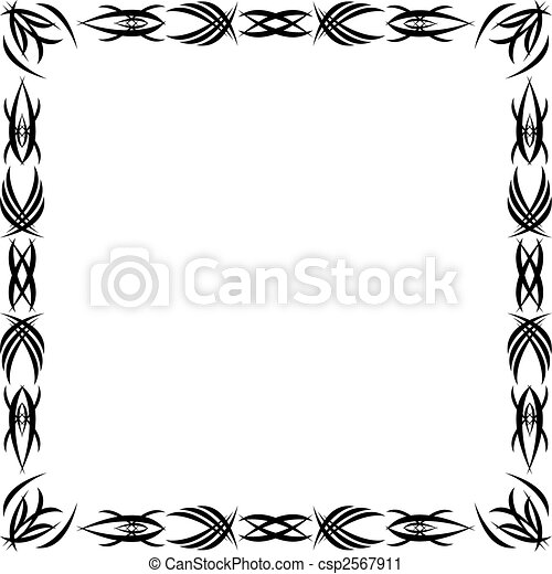 Gothic Pattern Framework Drawn By A Black