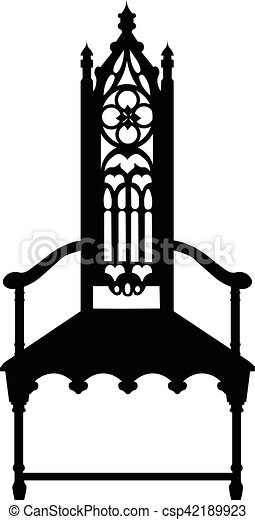 Gothic Style Chair With Ornaments   Csp42189923
