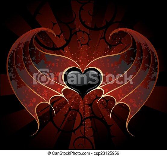 Gothic Vampire Heart Vector