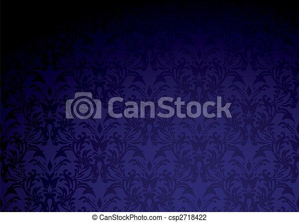 Gothic Wallpaper Purple Classic Pattern Clip