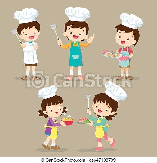 Gotowanie Komplet Dzieci Mąka Sprytny Mały Komplet Rysunek