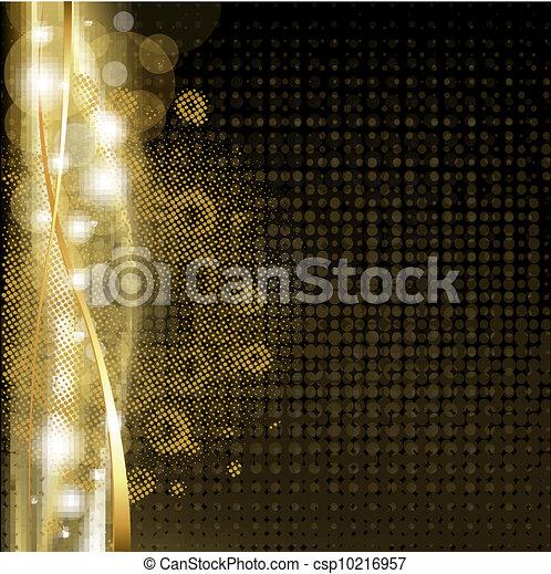goud, achtergrond, sterretjes, luxe - csp10216957