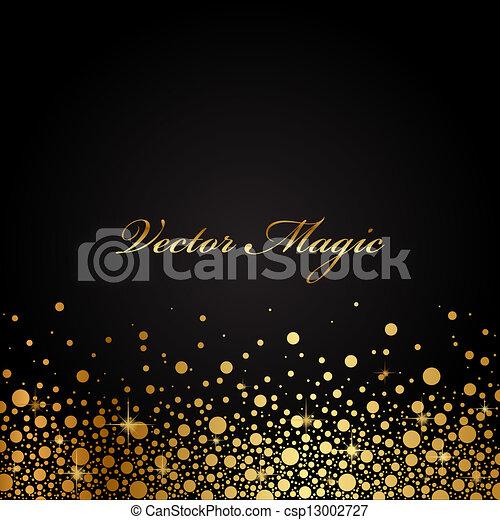 goud, black , luxe, achtergrond - csp13002727