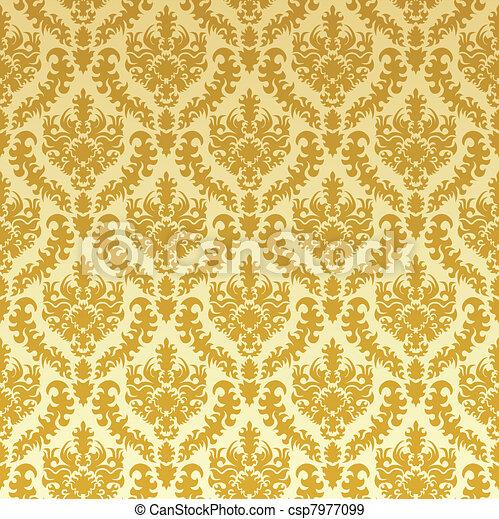 goud, damast - csp7977099