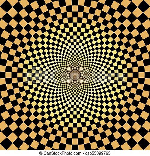 goud, model, abstract, achtergrond, radiaal, geometrisch - csp55099765