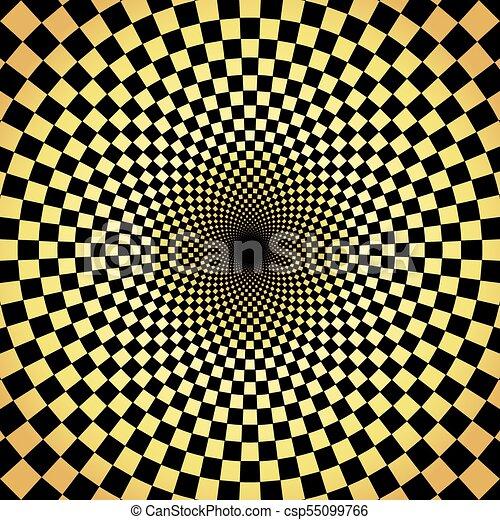 goud, model, abstract, achtergrond, radiaal, geometrisch - csp55099766