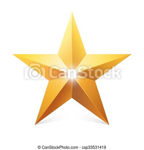 goud, star. - csp33531419