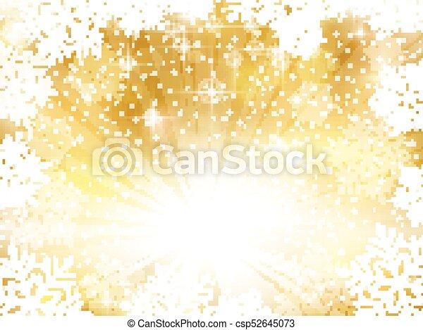 gouden achtergrond, snowflakes, het fonkelen, kerstmis - csp52645073