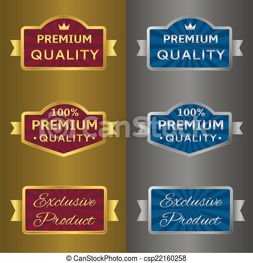 gouden, etiketten, zilver - csp22160258