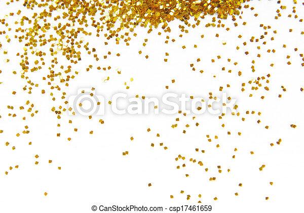 gouden, frame, schitteren, achtergrond - csp17461659