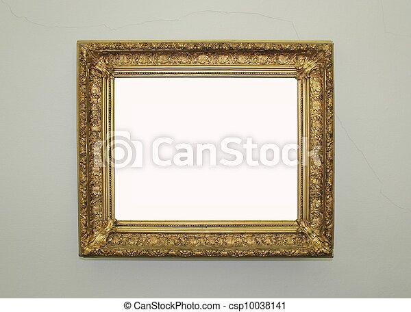 gouden, ingelijst, spiegel - csp10038141