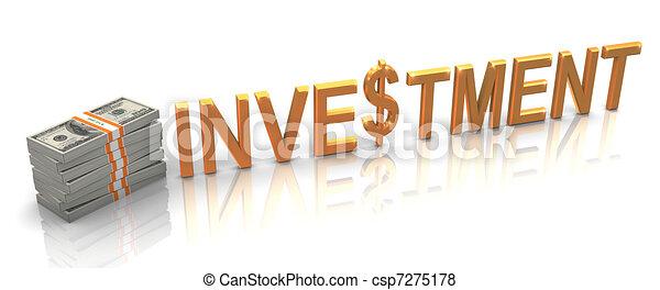 gouden, investering, 3d - csp7275178