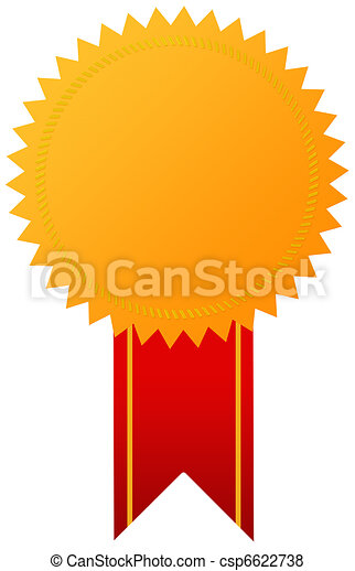 gouden, medaille, toewijzen - csp6622738
