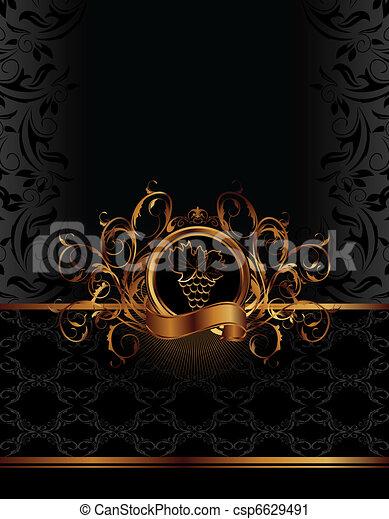 gouden, pakking, etiket, wijntje - csp6629491