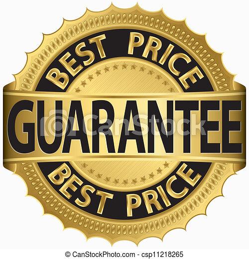 gouden, prijs, etiket, best, borg staan voor - csp11218265