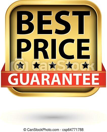 gouden, prijs, illustratie, vector, etiket, best, borg staan voor - csp64771788