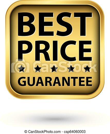 gouden, prijs, illustratie, vector, etiket, best, borg staan voor - csp64060003