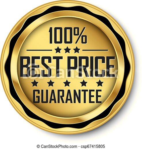 gouden, prijs, illustratie, vector, etiket, best, borg staan voor - csp67415805