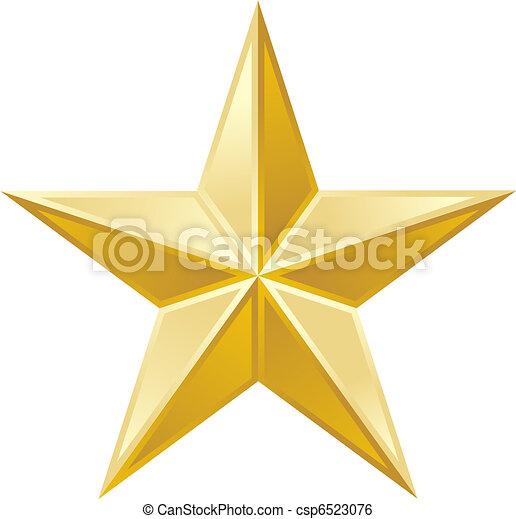 gouden, ster - csp6523076