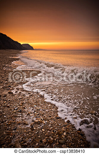 gouden, strand - csp13838410