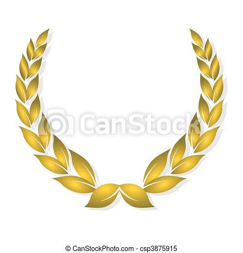 gouden, toewijzen, laurier - csp3875915