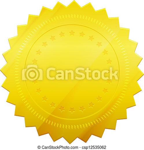 gouden zegel - csp12535062