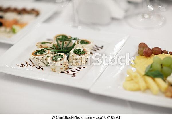 Gourmet appetizers - csp18216393
