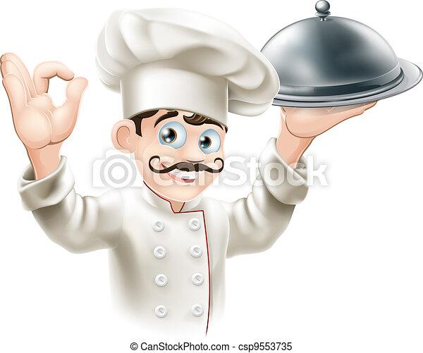 Gourmet chef illustration - csp9553735
