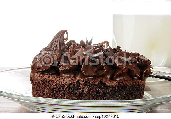 Gourmet chocolate brownie with milk - csp10277618