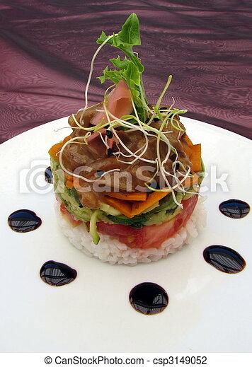 Gourmet Food Stacker - csp3149052