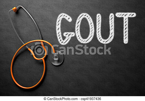 gout, illustration., testo, -, chalkboard., 3d - csp41937436