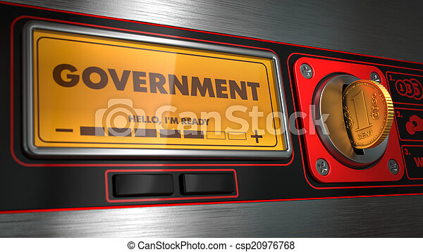 Government on Display of Vending Machine. - csp20976768