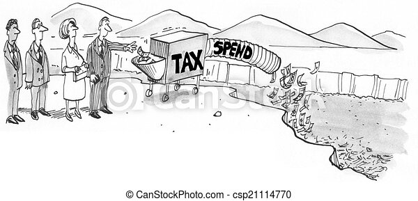 Government Taxing and Spending - csp21114770
