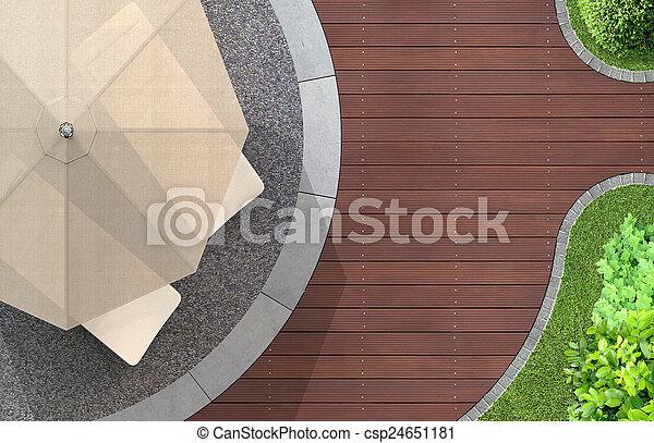 Disfruta del jardín - csp24651181