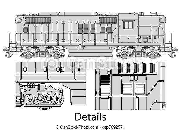 gp9-558 locomotive - csp7692571