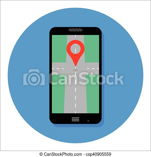 gps app icon for smartphone map icon location and gps clipart rh canstockphoto com gpa clipart gps clip art free