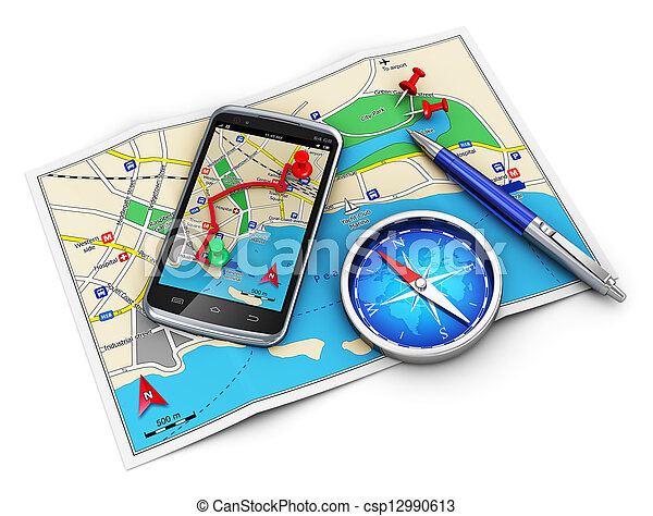 GPS navigation, travel and tourism cocnept - csp12990613