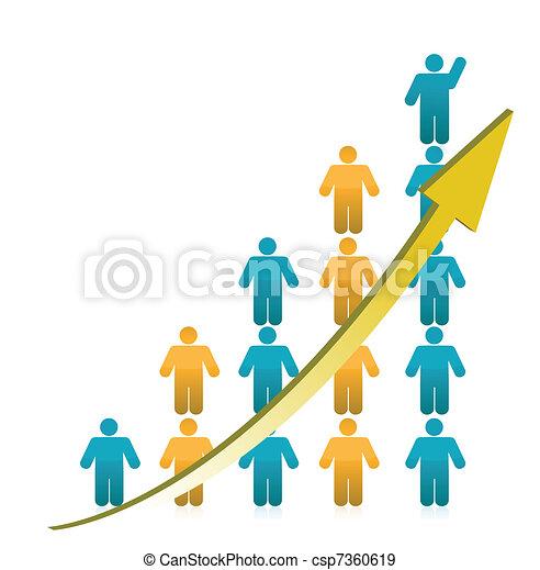 La gente muestra crecimiento - csp7360619