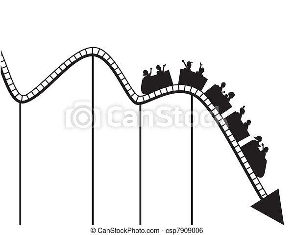 Graph de montaña rusa - csp7909006
